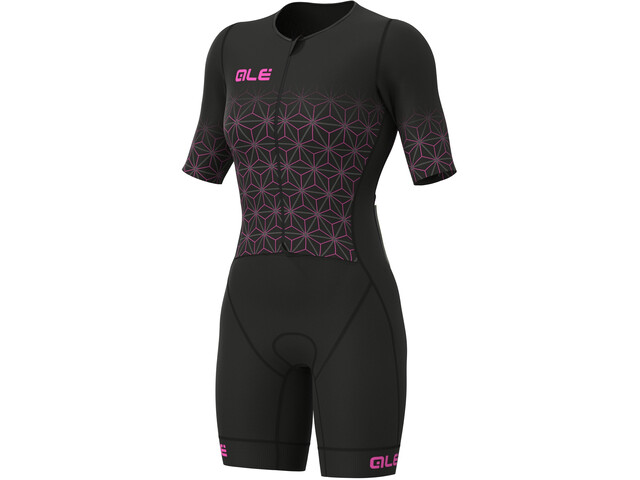 Alé Cycling Maui Kurzarm Triathlon Skinsuit Lang Damen black